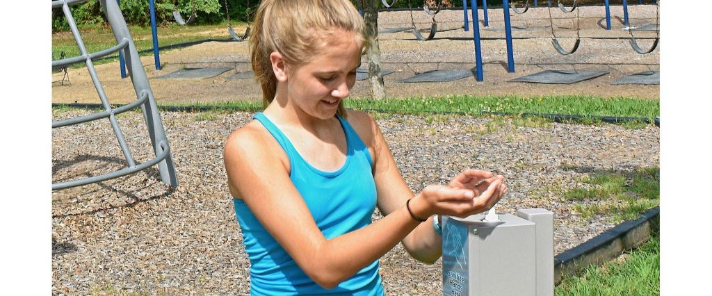 Hand Sanitizer Stations for School Playgrounds and Parks