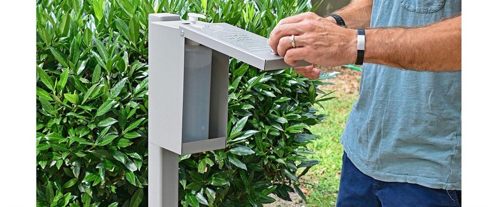 Outdoor Hand Sanitizer Locking Enclosures