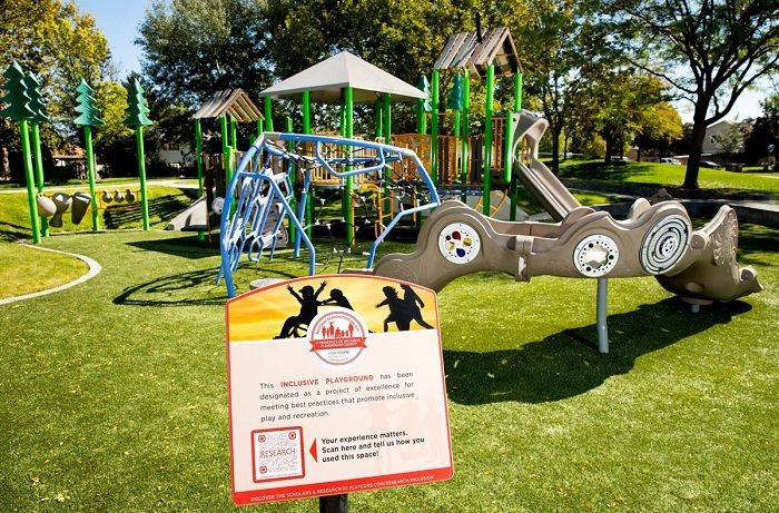 Playground with Turf Safety Surfacing