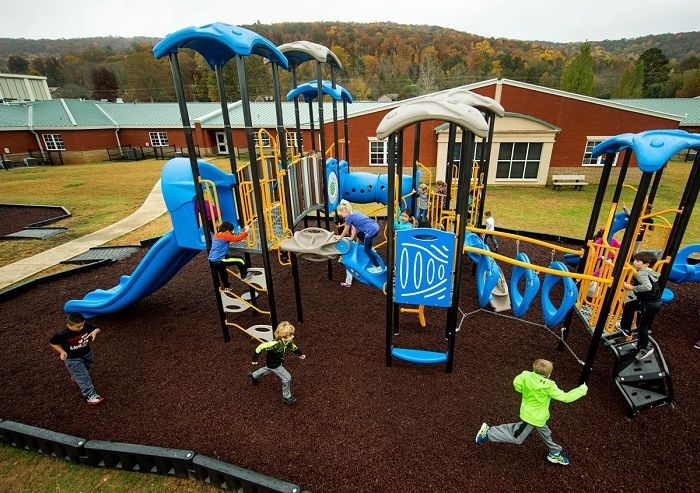 Playground Safety Surfacing Companies - Loose Fill Recycled Rubber