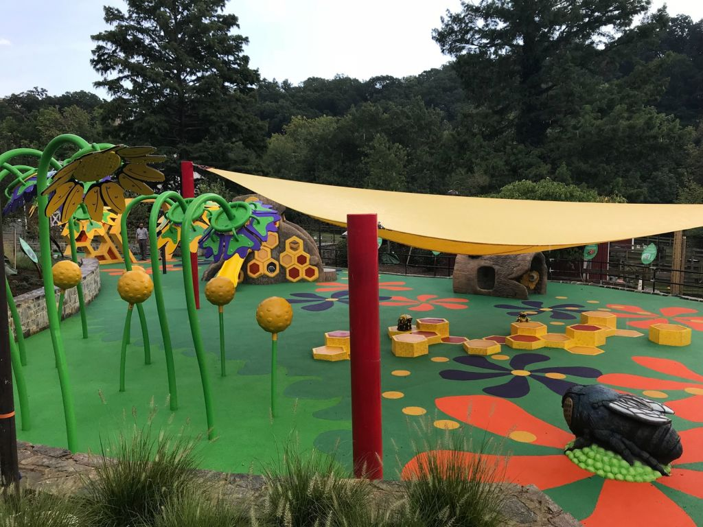 shade structure for park playground and recreational space