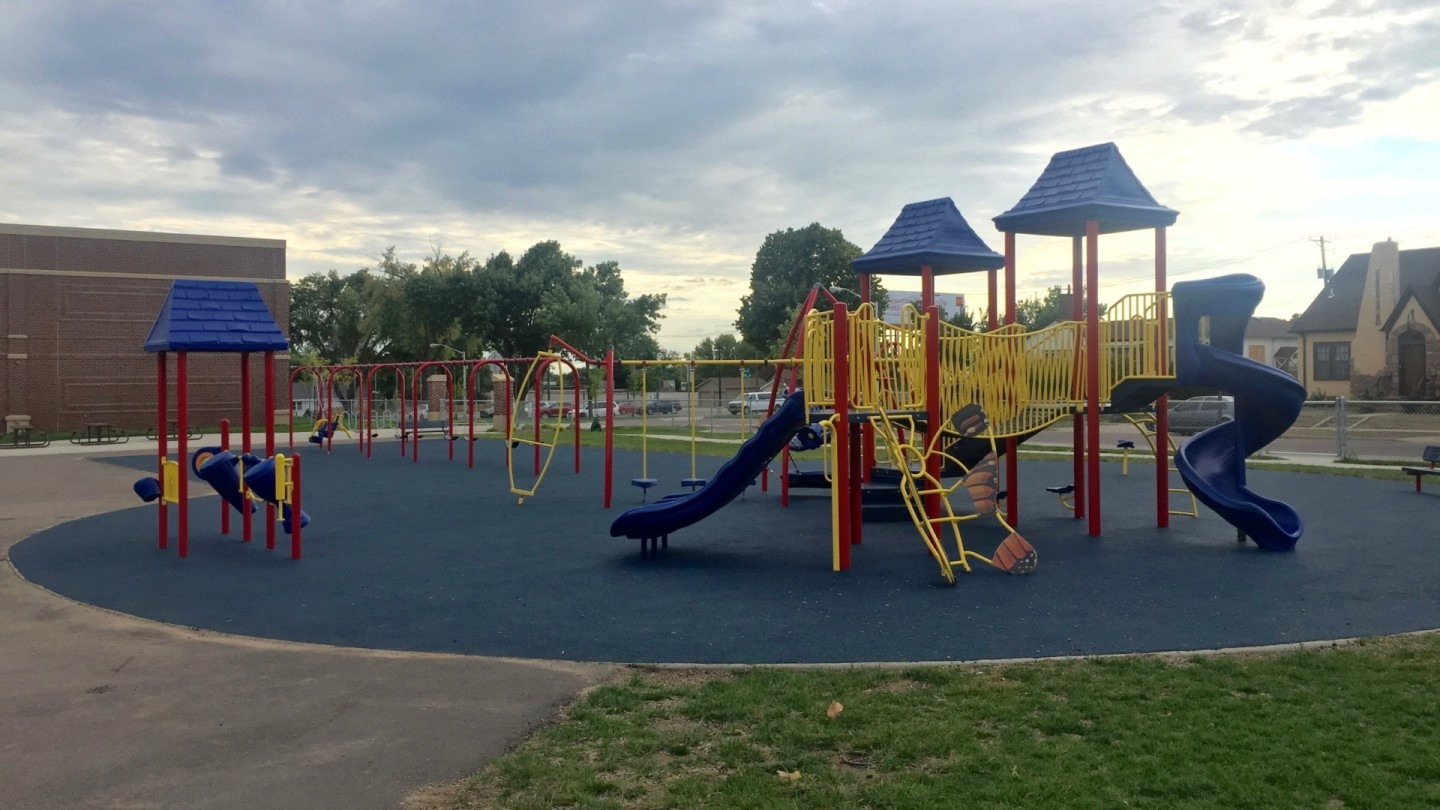 school playground in primary colors sioux cunningham recreation
